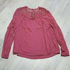 🍁3 for $20 Charlotte Russe brown flowy blouse